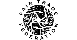 Fair Trade Federation (FTF) logo in black and white