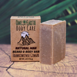 Frankincense-Ginger Beard & Body Bar from One Earth Body Care
