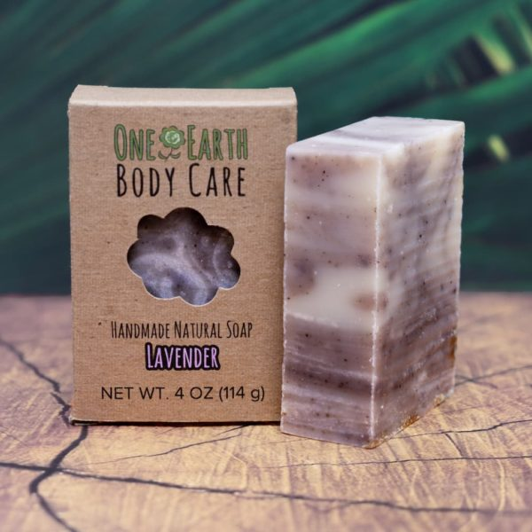 Lavender Handmade Soap Bar From One Earth Body Care
